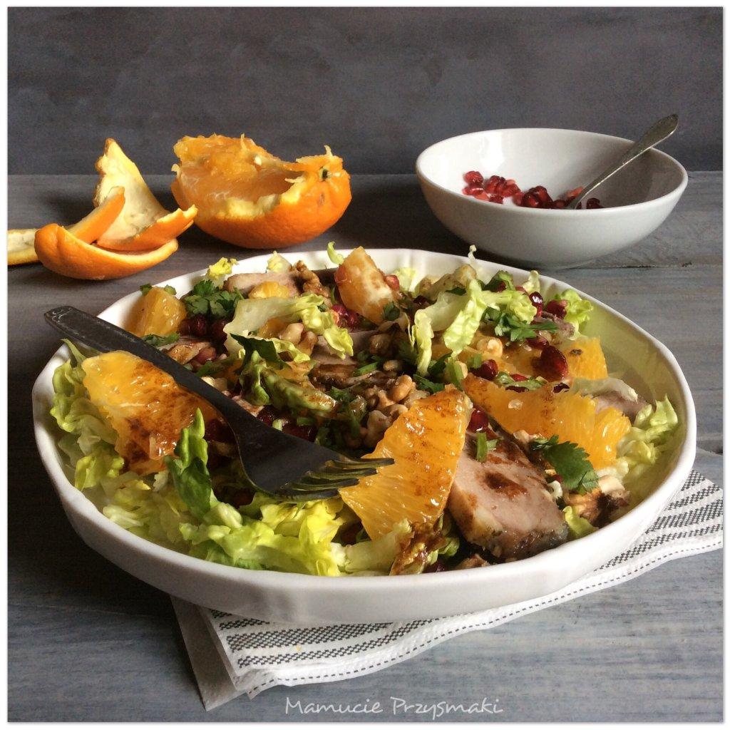 Sałatka z kaczki i pomarańczy