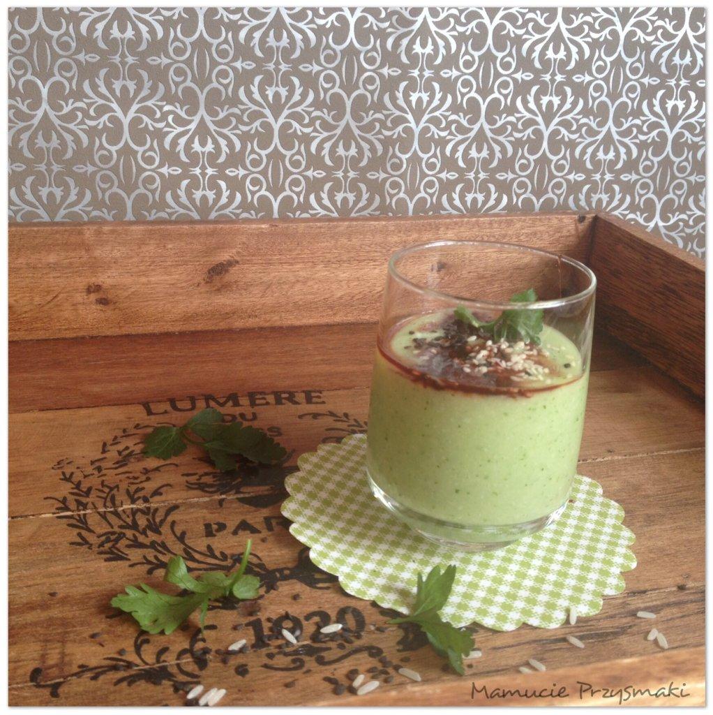 Zielony koktajl ryżowy