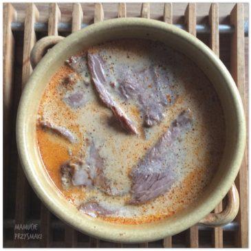 Wołowina w kremowym sosie