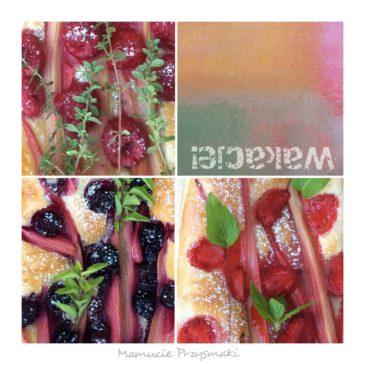 Wakacyjne ciasto francuskie z owocami